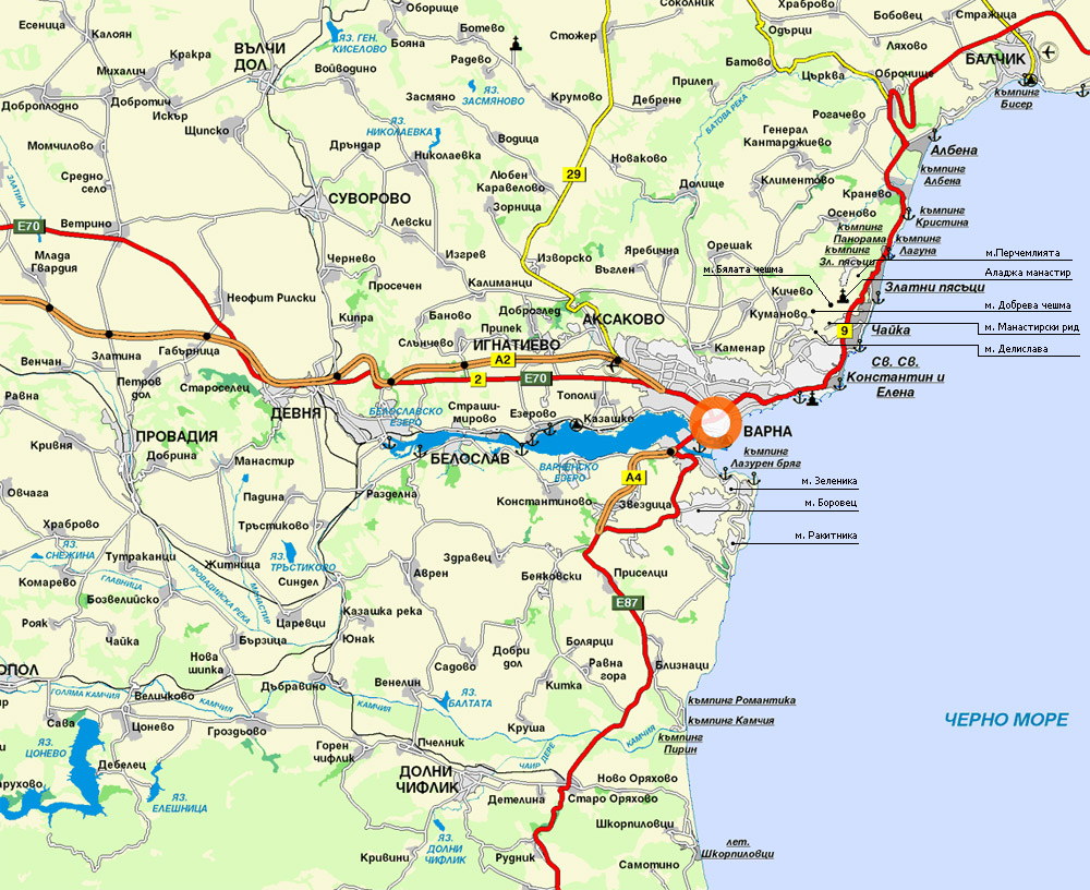 City Maps Map Of Varna City